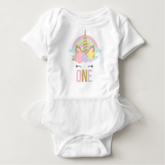 Unicorn Tutu Bodysuit Unicorn 1st Birthday Outfit