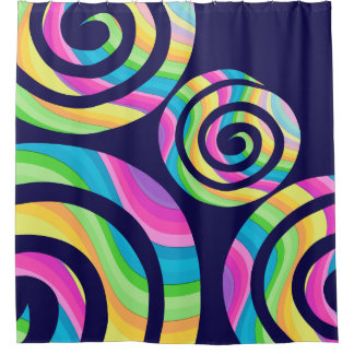 Unicorn Twirls Shower Curtain