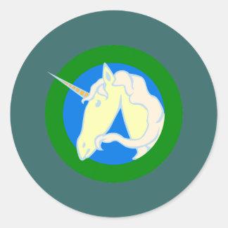 Unicorn unicorn round sticker