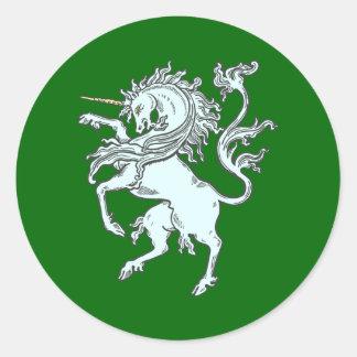 Unicorn unicorn round stickers