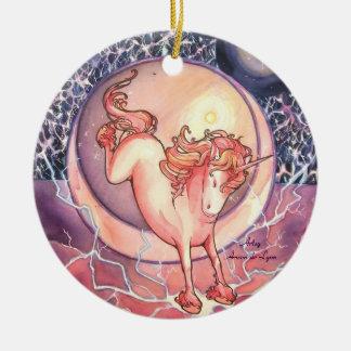 Unicorn, Universe Round Ceramic Decoration