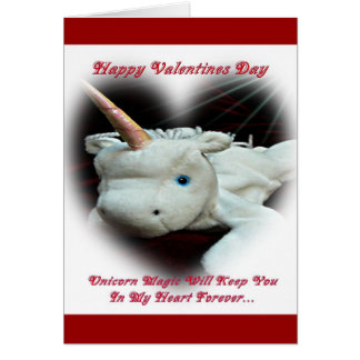 Unicorn Valentines Greeting Card