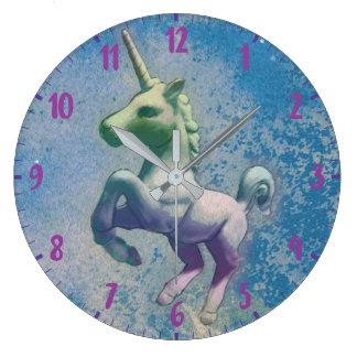 Unicorn Wall Clock   Blue Arctic