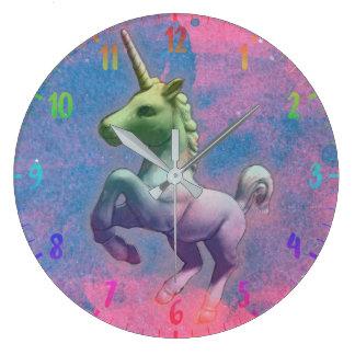 Unicorn Wall Clock   Cupcake Pink