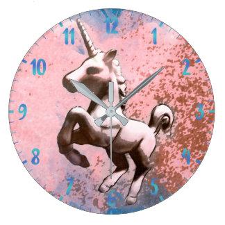 Unicorn Wall Clock   Faded Sherbet