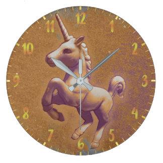 Unicorn Wall Clock | Metal Lavender