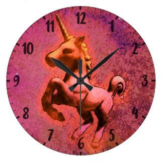 Unicorn Wall Clock   Red Intensity