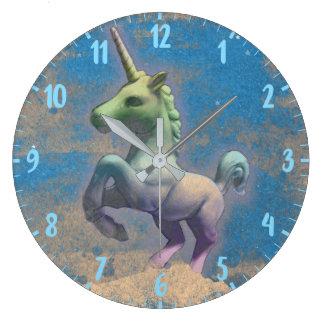 Unicorn Wall Clock   Sandy Blue
