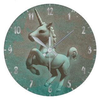 Unicorn Wall Clock | Teal Steel