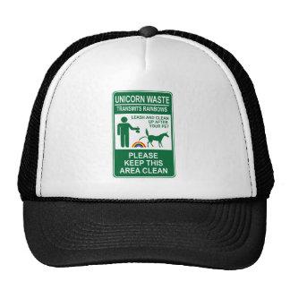 Unicorn Waste Sign Hat