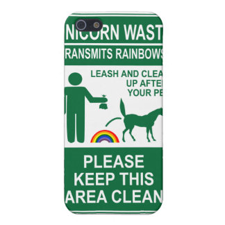 Unicorn Waste Sign iPhone case Covers For iPhone 5