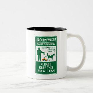 Unicorn Waste Sign Mug