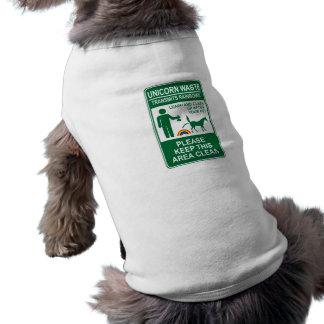 Unicorn Waste Sign Pet Shirt