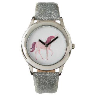 Unicorn Watch- Silver Glitter Band Watch