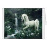 Unicorn Waterfall Card