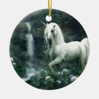 Unicorn Waterfall Christmas Ornament