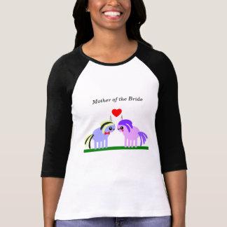 Unicorn wedding Mother of the Bride T-Shirt