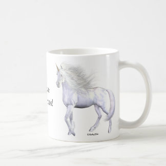 Unicorn White Beauty Coffee Mug