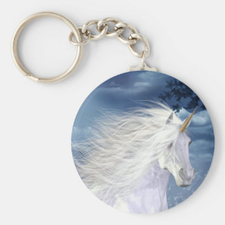 Unicorn White Beauty Key Ring