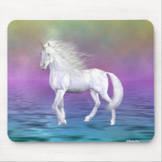 Unicorn White Beauty Mouse Mat