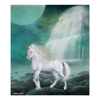Unicorn White Beauty Poster
