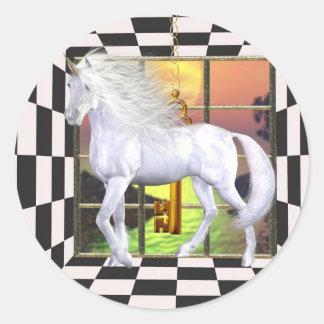 Unicorn White Beauty Sticker