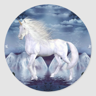 Unicorn White Beauty Sticker