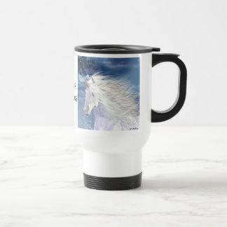 Unicorn White Beauty Travel Mug