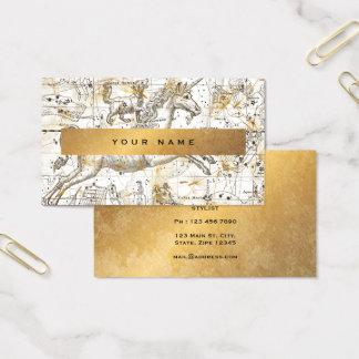 Unicorn White  Gold Grungy Dandelion Confetti Vip Business Card