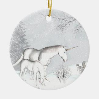 Unicorn winter Ornament
