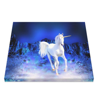 Unicorn Wishes Stretched Canvas Prints