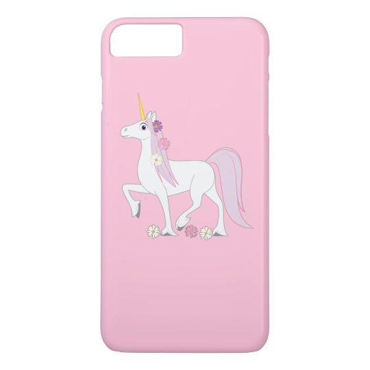 Unicorn with Daisies in her Mane iPhone 7 Plus Case