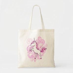 Unicorn with Heart Henna Background  Bag