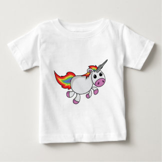 Unicorn with Rainbow Mane and Tail Baby T-Shirt