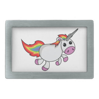 Unicorn with Rainbow Mane and Tail Belt Buckle