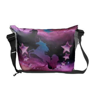 Unicorn with stars courier bag