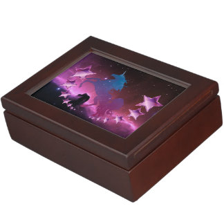 Unicorn with stars keepsake box