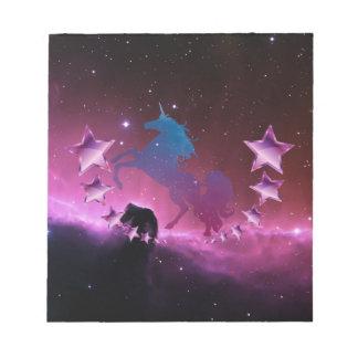 Unicorn with stars notepad