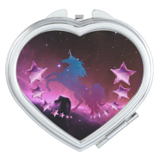 Unicorn with stars vanity mirror