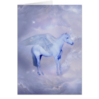 Unicorn with wings fantasy card