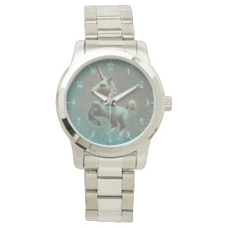 Unicorn Wrist Watch | Teal Steel