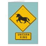 Unicorn XING Greeting Cards