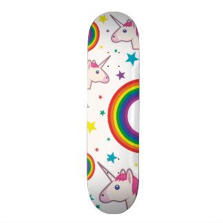 Unicórnio Skate Emoji Skate Board Deck