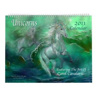 Unicorns 2011 Art Calendar