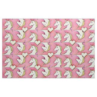 Unicorns and Hearts Fabric