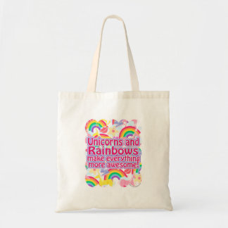 Unicorns and Rainbows Canvas Bags