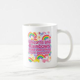 Unicorns and Rainbows Basic White Mug