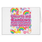 Unicorns and Rainbows Card