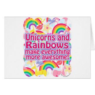 Unicorns and Rainbows Greeting Card