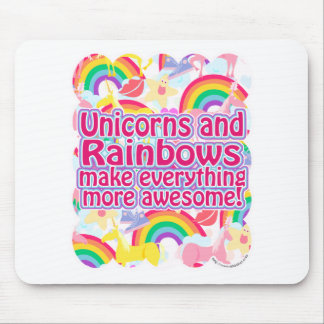 Unicorns and Rainbows Mouse Mat